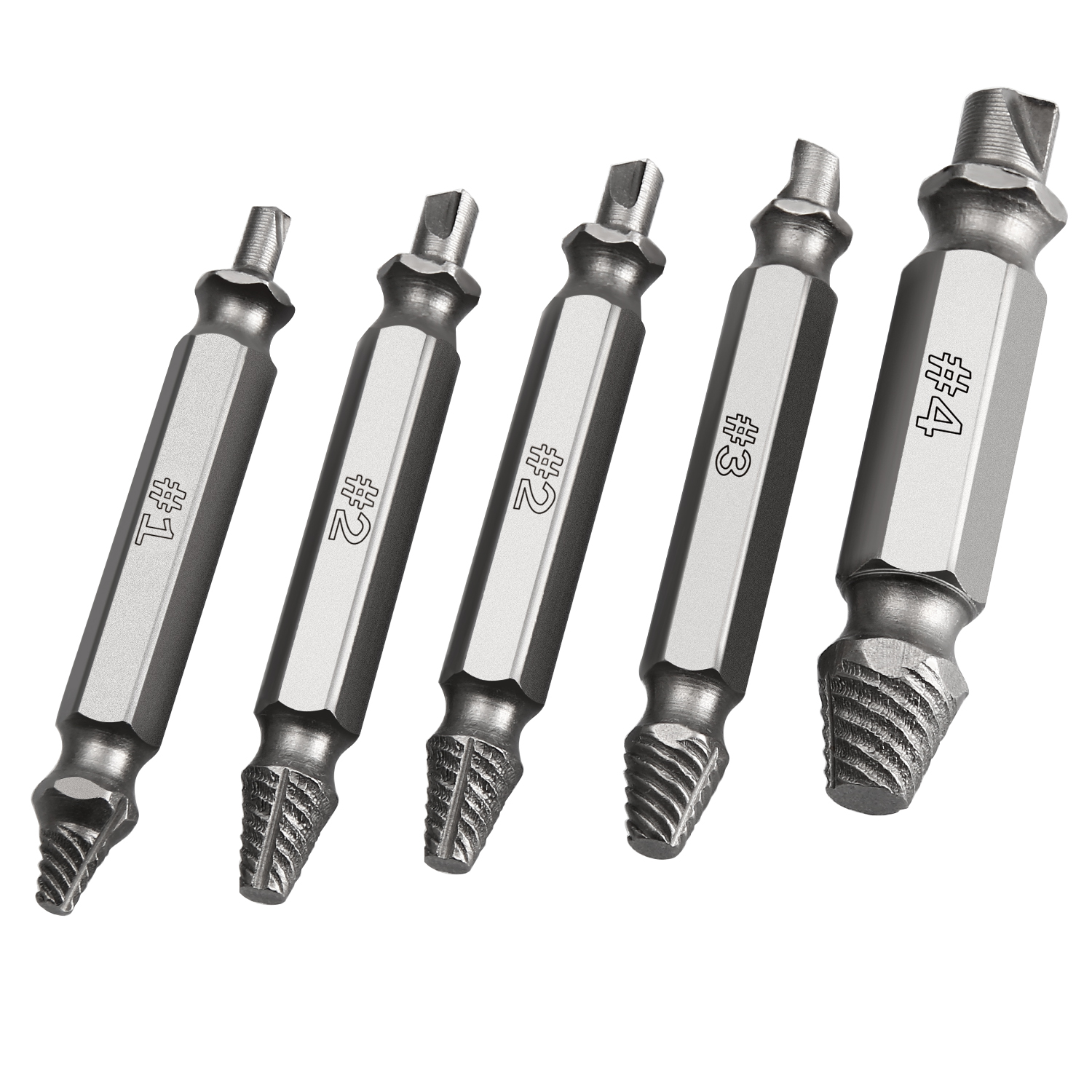 ORIA 5PCS/set Damaged Screw Extractor Drill Bits Guide Set Broken Speed Easy Out Bolt Stud Stripped Screw Remover Tool