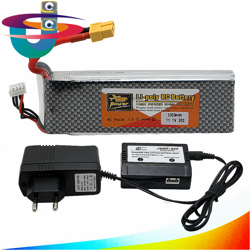 3s lipo battery 11.V 3300mah 30C and EU charger For Quadcopters Helicopters RC Cars Boats High Rate batteria lipo car parts xxl rc lipo battery 2200mah 11 1v 3s 30c for trx 450 rc fixed wing helicopters airplanes cars