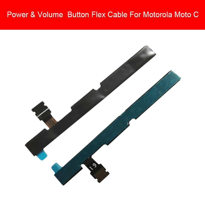 Genuine Power & Volume Flex Cable For Motorola MOTO C Plus XT1750 Side Key Button Switch Audio Control Flex Cable Replacement