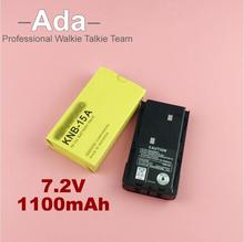 Free shipping 1100mAh 7.2V Ni-cd KNB-15A Radio Battery for Kenwood TK-260G TK-360G TK-372G TK-2100 Tk-278 2107New Walkie Talkie