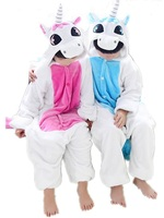 Children Kids Flannel Animal Pajamas Anime Cartoon Costumes Sleepwear Onesie Cosplay Blue Pink Unicorn Onesie Unicorn
