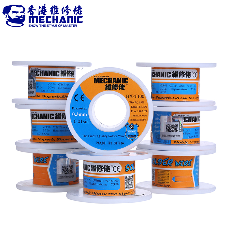 MECHANIC Rosin Core Solder Wire 55g Sn63% Pb37% 0.2/0.3/0.4/0.5/0.6/0.8mm Low Melting Point Welding Tin Wire BGA Soldering Tools