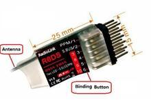 Original R6DS 2.4G DSSS 6CH RadioLink & FHSS RC Receptor para RadioLink AT9S AT9 AT10 Transmissor Suporte SBUS PPM PWM