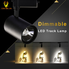 Dimmable LED Track Light 220V 12W 20W 30W COB Led Track Lamp Lights Spotlights Rail Fixture for Home Lighting clothes Shop Store(China)