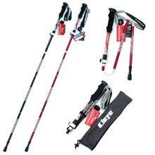 NEW 2018 Fashion Aluminium alloy folding rod section Walking sticks outdoor portable stick Straight Grip Handle trekking poles