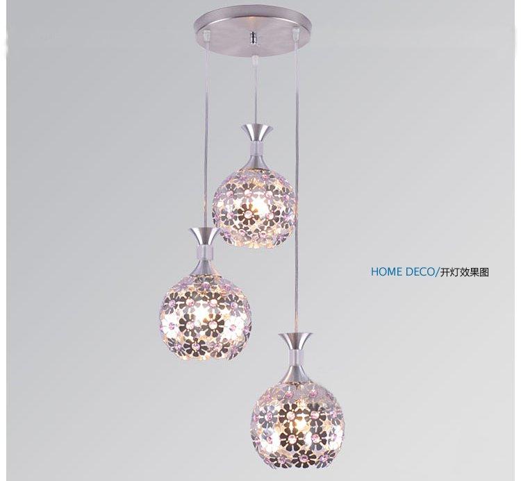 Aliexpress Buy Three petals modern restaurant lamp bedroom – Bar Chandelier