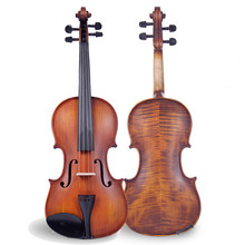 4/4 3/4 Violin Natural Acoustic Wood Spruce Matt Maple Violin Fiddle with Case Handmade Antique Stringed Instrument