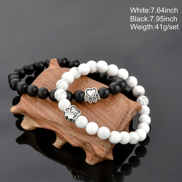 chicvie белый и черный браслет браслеты для мужчин женщин влюбленных фотография