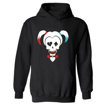 DC Suicide Squad Harley Quinn Hoodies men Black Cotton mens Hoodies and sweatshirts with hip hop funny in street wear style 3XL