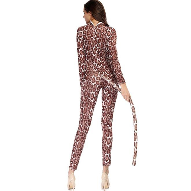 Sexy Women Leopard Costume Halloween Carnival Adult Party Cosplay Clothing in Movie TV costumes from Novelty Special Use