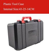 430x250x140 мм ABS корпус инструмента Toolbox ударопрочный герметичный безопасности случае оборудование корпус камеры с предварительно -Cut Пена Бесплатная доставка