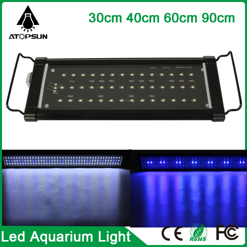 Aquarium Verlichting 30 Cm Us 31 99 1 Stks 30 Cm 40 Cm 60 Cm 90 Cm Led Aquarium Lamp Aquarium Licht Led Verlichting Lamp Voor Aquarium Reef Wit Blauw Eu Us Plug Adapter In 1