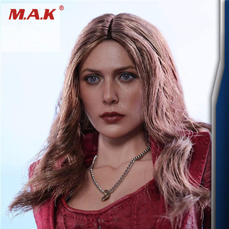 1/6 Scale Elizabeth Olsen Scarlet Witch Head sculpt 3.0 Female Head Carving Beauty Head Sculpt For 12 inches  Action Figure 1 6 head sculpt male figure doll guardians of the galaxy star lord head carving 1 6 action figure acccessories juguete toys gift