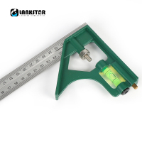100 New 300mm Combination Square Angle Ruler 45 90 Degree With Bubble Level Multi Functional Measuring