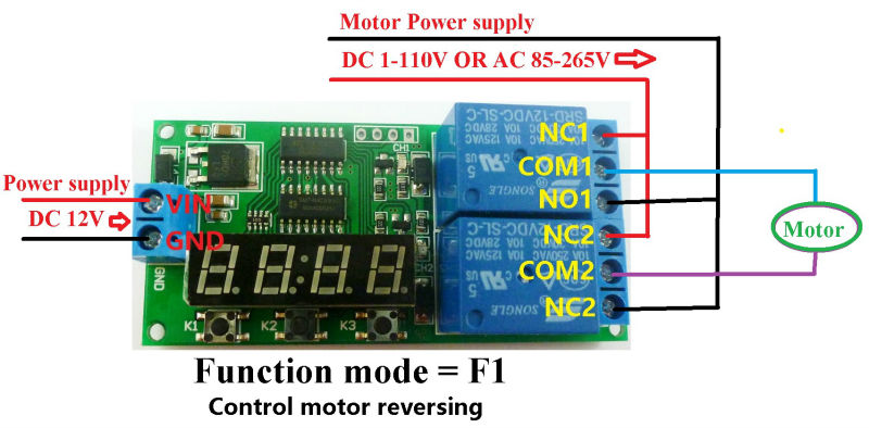 DC 12V 2 Channel Multifunction Delay Timer Module Delay Relay ...