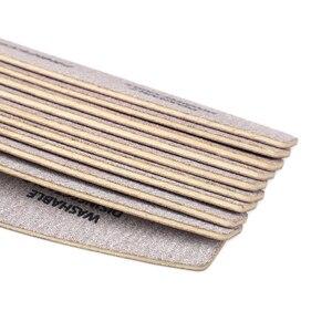 Image 5 - 100 pcs di Legno Carta Vetrata Nail File 100/180 Manicure Professionale Buffer Grigio Barca Pedicure Double sided Legno Buffer Del Chiodo di Alimentazione