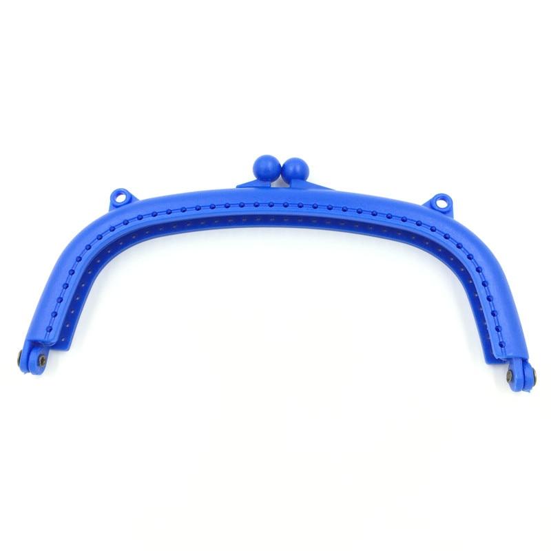 10Pcs Royal Blue Purse Plastic Arch Frame Kiss Clasps Clutch Buckle Lock Handbag Handle Findings 16x8.5cm