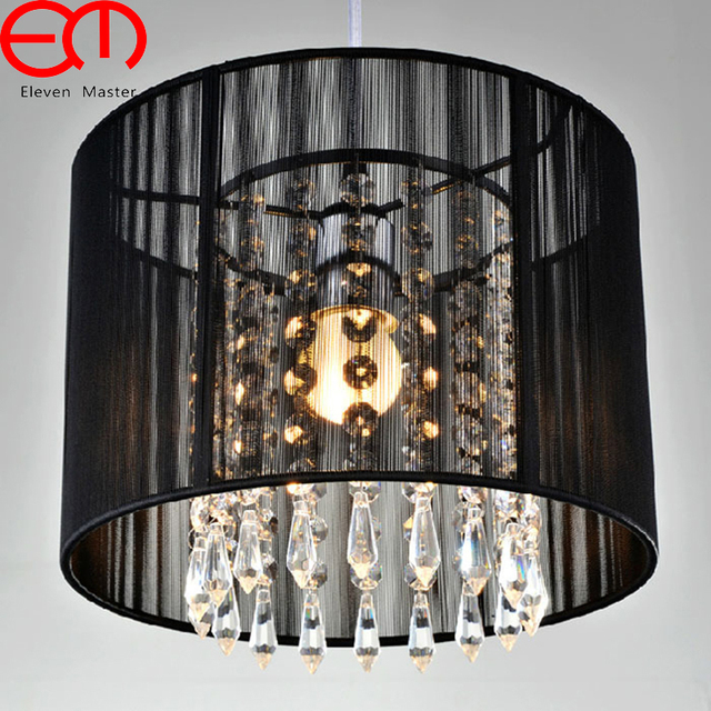 Modern dining room Crystal Pendant Lights E27 led kitchen Crystal Round hangLamp Curtain pendant Lamp WPL042