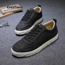 Cresfimix zapatos hombre men fashion comfortable black spring shoes male cute stylish shoes man plus size black shoes c3107