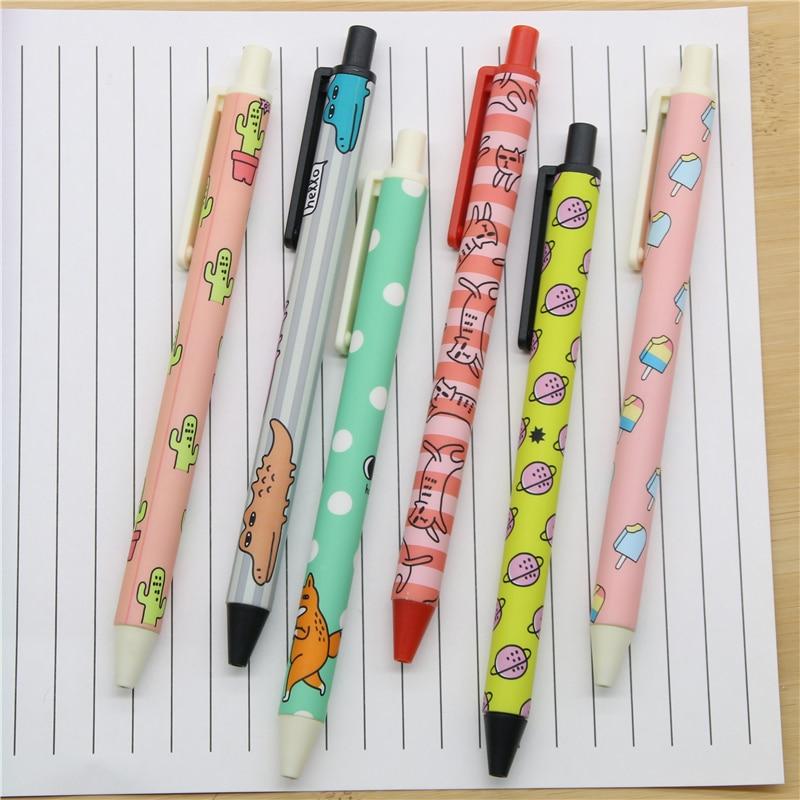 (6 Teile/los) 0,5mm Kreative Lustige Koreanische Abbildung Gel Ink Pen Werbe Geschenk...