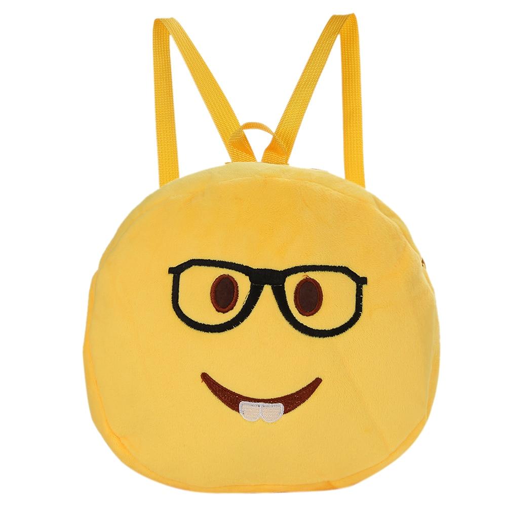 Top Fashion Face Expression Plush Toy Children Backpack Schoolbag Kids Soft Cartoon Backpacks Girl Boy School Bags Mochila