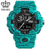 Men Top Luxury Brand Unique Casual Fashion Rubber Band Sport Wristwatches Man Quartz Chronograph Army Waterproof Watches|Digital Watches| |  -
