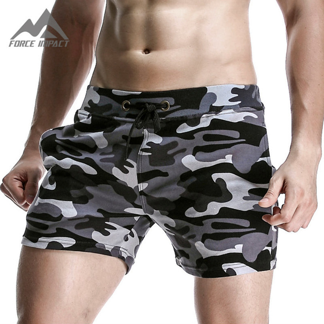 New Fashion Cotton Men's Jogger Short Leisure Workout Short With Pocket Casual Camouflage Elastic Waist Home Lounge Shorts PF73