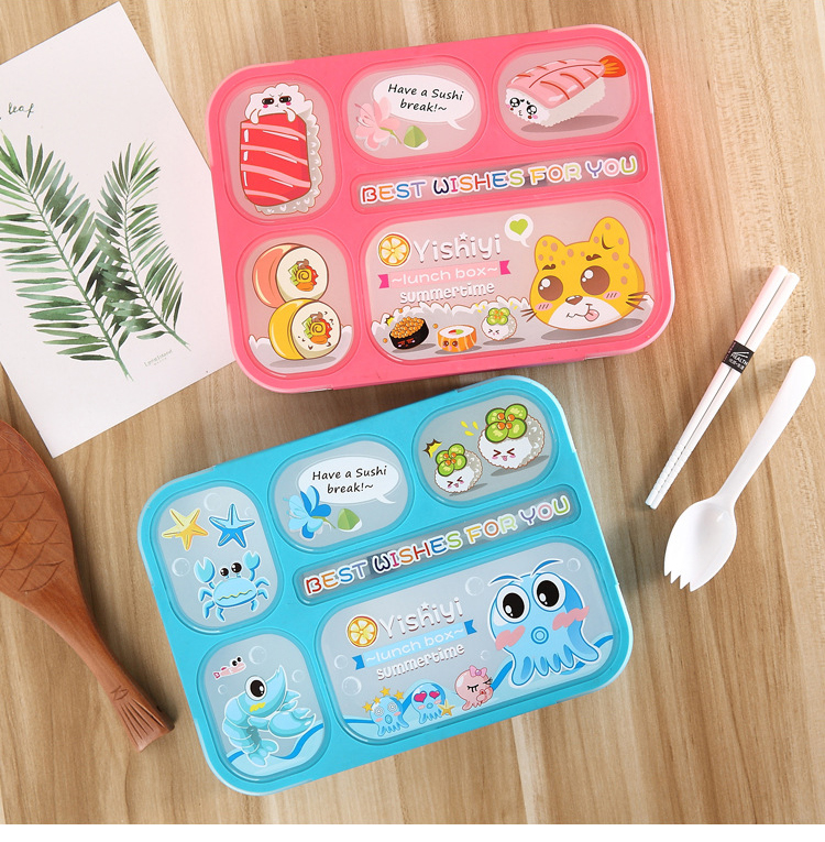 Cute Cartoon Healthy Plastic Food ContainerMultifunction Adults