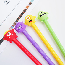 1X Kawaii cartoon Cute monster 0.5mm cute Neutral pen stationery canetas material escolar office school supplies papelaria