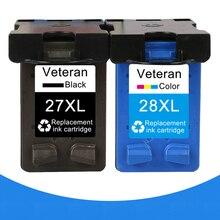 Ветеран 27XL 28XL пополнен чернильный картридж для hp 27 28 XL для hp Deskjet 450 450CI 5550 3420 3520 3550 3650 3740 3845