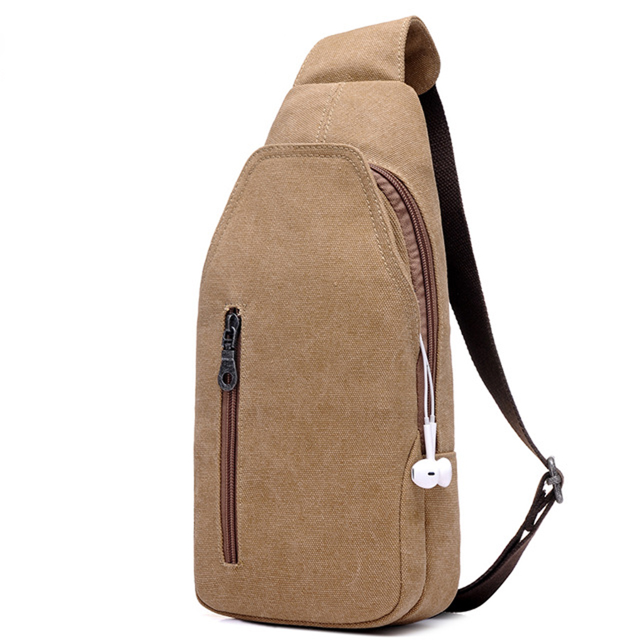 2017 new fashion canvas Messenger bag men messenger bag leisure retro bag high quality chest bag