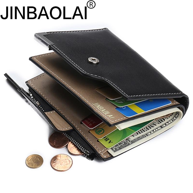 Zipper Small Fashion Men Wallet Male Purse Coin Perse Short Walet Mini Cuzdan Thin Vallet For Card Holder Slim Money Bag Pocket