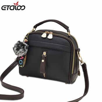 Fashion Women Handbag PU Leather Women Messenger Bags With Ball Toy Female Shoulder Bags Ladies Party Handbags 2019 - DISCOUNT ITEM  52 OFF All Category