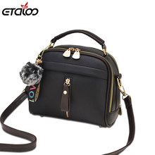 Fashion Women Handbag PU Leather Women Messenger Bags With Ball font b Toy b font Female