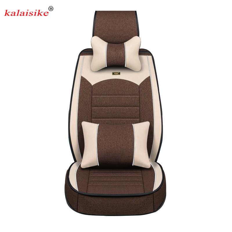 Kalaisike Linho tampas de Assento Do Carro Universal para todos os modelos da Chery A1/3/5 Fulwin Cowin QQ3 E5 E3 6 V5 Tiggo Riich X1 car styling