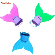 цены Kids Mermaid Tail Swimming Diving Monofin Swimming Fins for Children Outdoor Diving Swimming Training