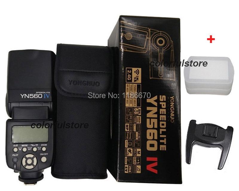 YongNuo YN560IV YN-560 YN560 IV 4 YN-560IV 2.4G Wireless Master Flash Speedlite For Canon Nikon Pentax Olympus Camera + Diffuser 560 136x16 g