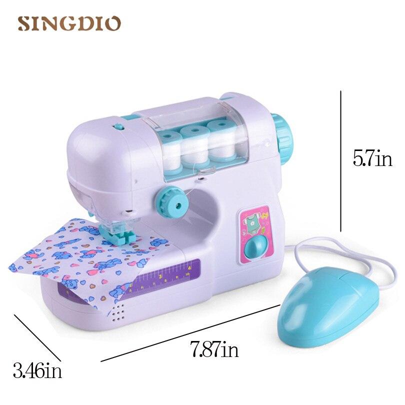 Machine à coudre électrique en plastique pour enfants outils de travail bébé jouer jouets mécaniques pour enfants cadeau fille faire soi-même