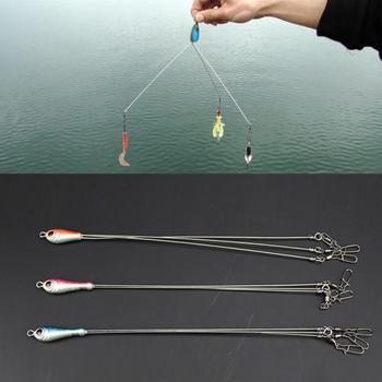 Gran oferta de Señuelos de Pesca, lote de 5 aparejos de pesca de 5 brazos Alabama, los aparejos de pesca tienen 5 cables con eslabones de Color que se envían al azar #20