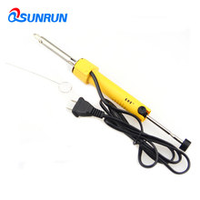 QSUNRUN Hand held 30W Electric Tin Dual -Use Suction Sucker Pen Desoldering Pump Soldering Tool With PCB Board Nozzle Cleaner