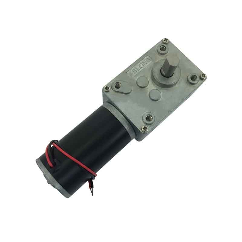 D Shaft 12v 24v 7-470rpm A58SW31ZY 24v Turbine Worm Geared Motor Dc Micro Reversed Motor deceleration motor Self-lock Motor