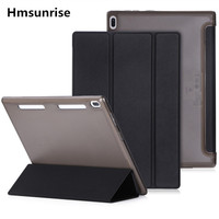 Hmsunrise Case For Lenovo TAB4 10 Ultra Thin Folio Flip Cover For Lenovo Tab 4 10