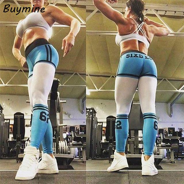 2017 Summer Fitness Leggings Women Letter Printed Striped Leggings Fitness Skinny Legging Sporting Workout Pant Sweatpants Pants