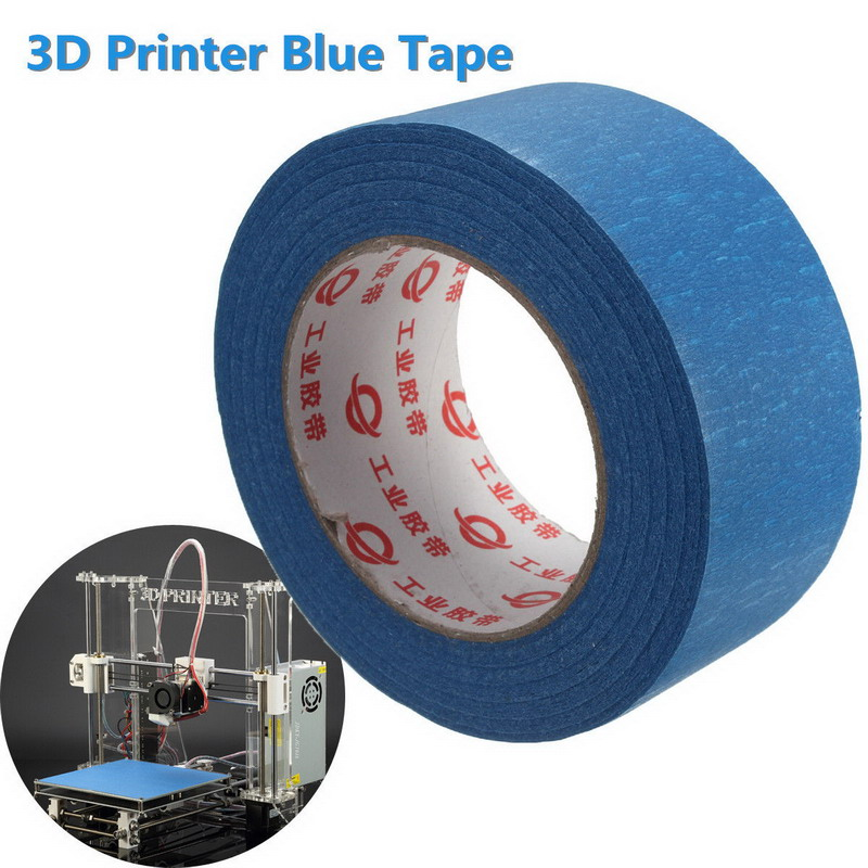 Printer Blue Masking Tape 50mm Wide 50m Reprap Bed Tape Painters Masking VEC71 T30 205mm width blue masking tape high temperature resistance masking tape for 3d printer makerbot thickness 0 13mm