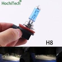 Одежда высшего качества H8 галогенная лампа 6000 K 12 V 35 W 2000Lm ксеноновые Темно-Синий Super White кварцевые Стекло автомобиля заменяемая лампочка для фар