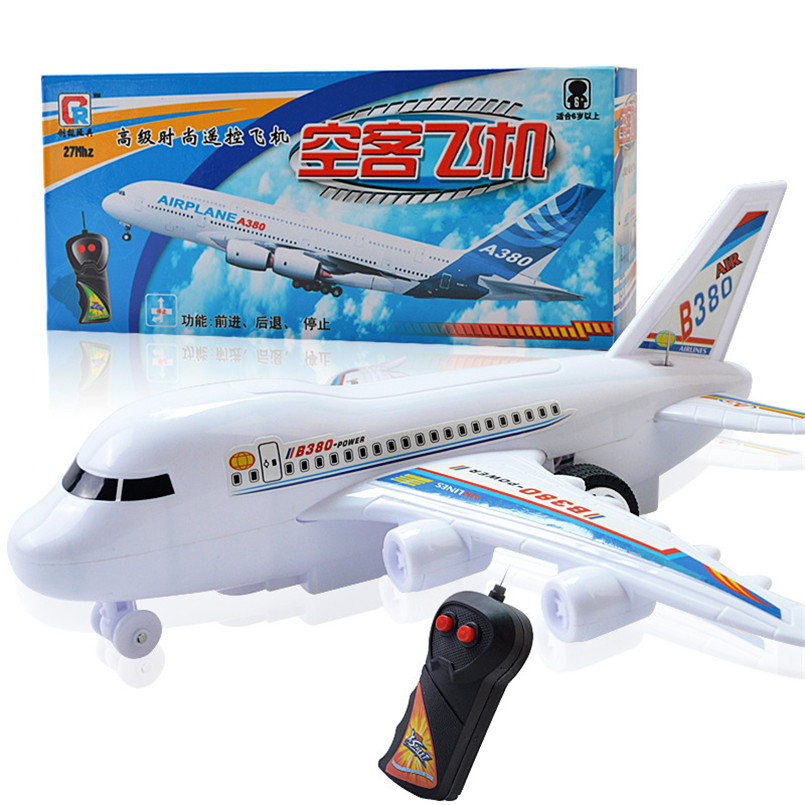 RC Airplane Model Outdoor Toys For Kid Boy Remote Control Plane Plastic Electrical Air Plane Children Birthday Gifts No Flying