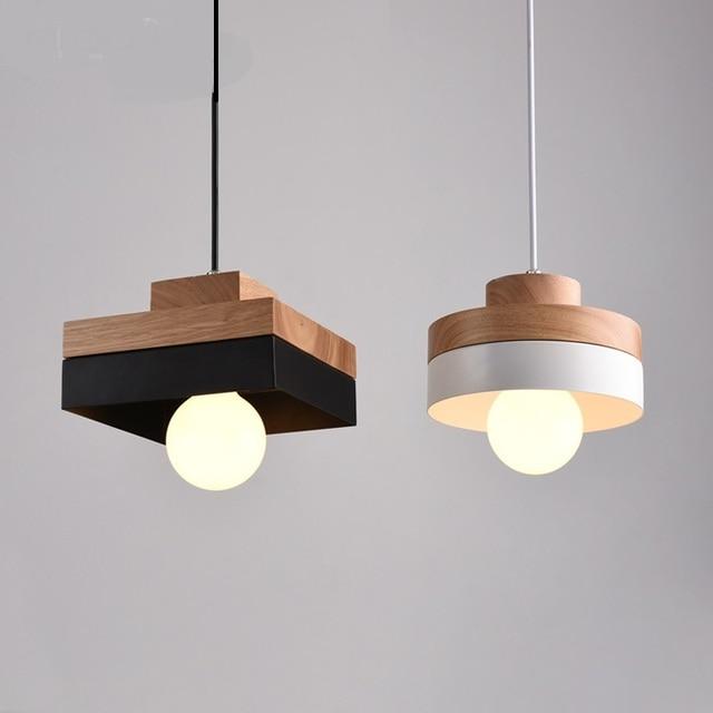 Лампы из натурального дерева