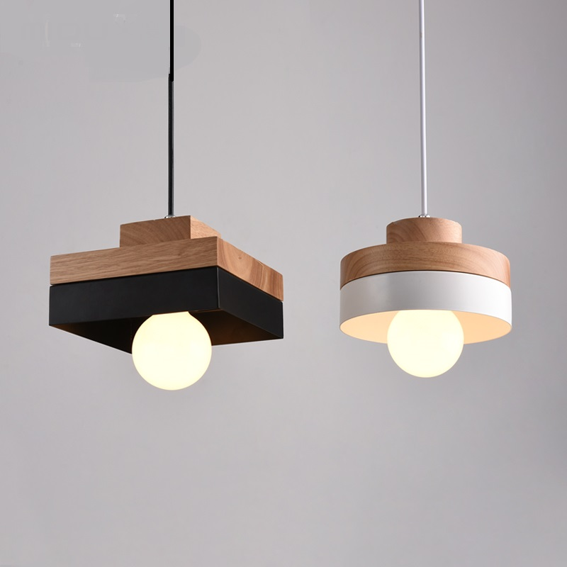 Solid Wooden white black pendant lamps for dining table creative living room bedroom balcony aisle real wood lighting MZ29Solid Wooden white black pendant lamps for dining table creative living room bedroom balcony aisle real wood lighting MZ29