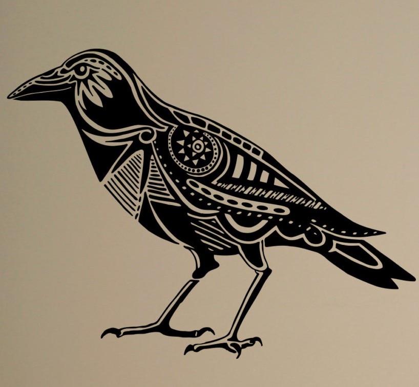 Raven Wall Decal Bird Crow Vinyl Sticker Animals Art Decor ...