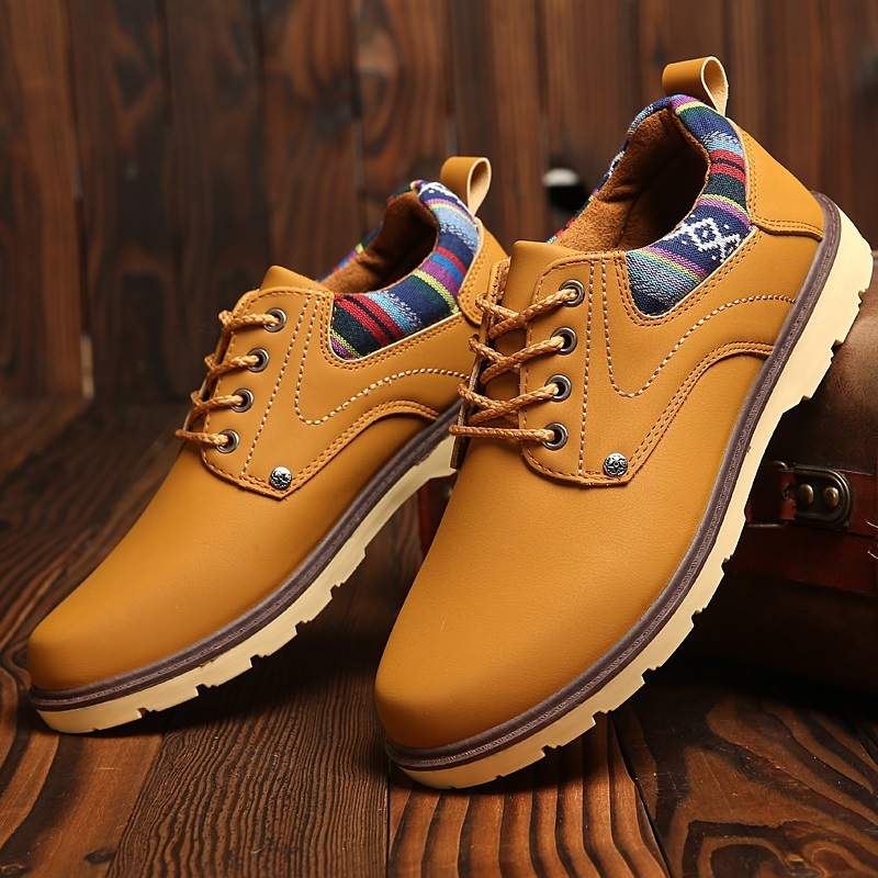 Men Leather Casual Shoes Leather Brand Men